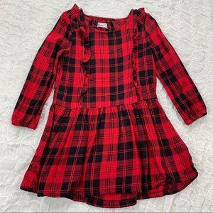 Girls red and black buffalo plaid tunic or dress